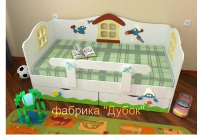 Кровать детская Смурфики (фабрика Дубок)