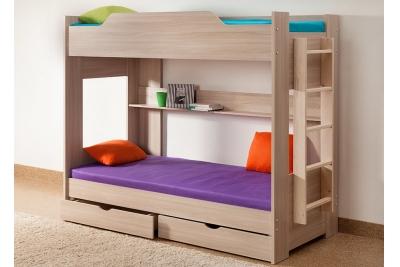 Кровать двухъярусная с книжной полкой