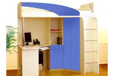 Детская кровать-чердак Беби синий
