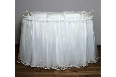 Постельное LAPPETTI в овальную кроватку подзор арт. B2  (юбка) кремовый.