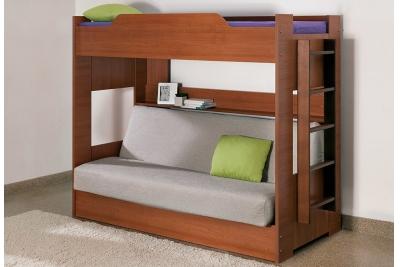 Кровать двухъярусная c диван-кроватью
