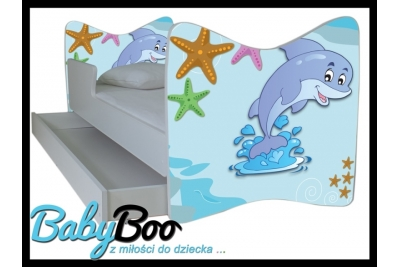 """Кровать детская от 3-х лет Junior """"Дельфин"""" с ящиком"""