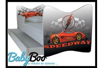"""Кровать подростковая с бортиками Junior """"Speedway""""."""