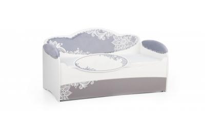 Кровать детская Mia Шиншила с бортиком и ящиком.