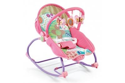 Детский шезлонг BabyMix BR212-049 розовый.