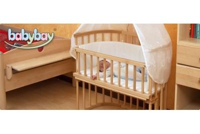 Приставная кроватка TOBI BABYBAY MAXI grau.