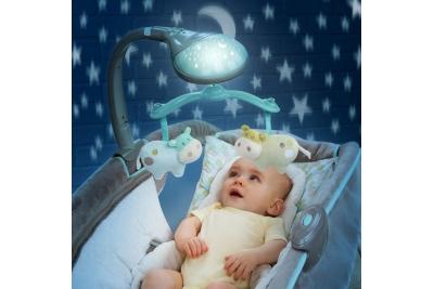 """Шезлонг детский Bright Starts 3 в 1 """"Лунный свет"""" 60327."""