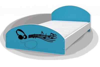 """Кровать подростковая Cross """"Music"""" 200х90 с матрасом."""