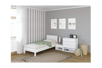 Кровать подростковая Кристофер (сосна) цвет Белая эмаль