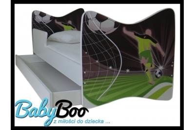 """Кровать подростковая с бортиками Junior """"Футболист"""" с ящиком."""
