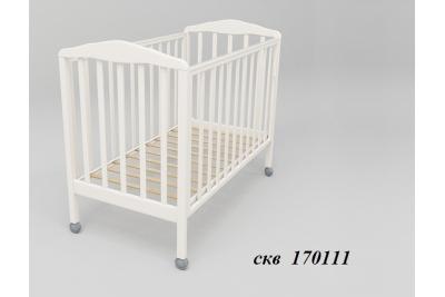 Кровать детская СКВ-Комп арт. арт.170111 цвет белый.