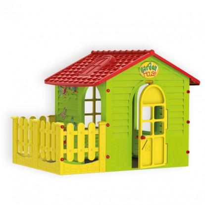 Маленький садовый домик с террасой Mochtoys арт.10839.