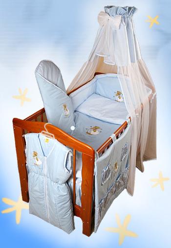 """Комплект в кроватку Ankras коллекция """"Сладкий сон""""(Мишка с подушкой) голубой цвет"""