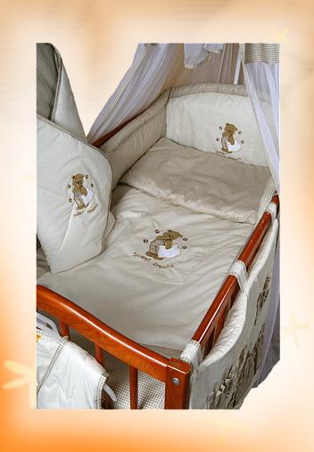 """Комплект в кроватку Ankras коллекция """"Сладкий сон""""(Мишка с подушкой) бежевый цвет"""
