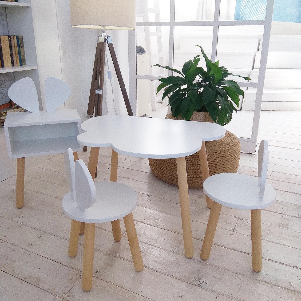 Детский столик и стульчик коллекция Зайка  (комплект 1+2)