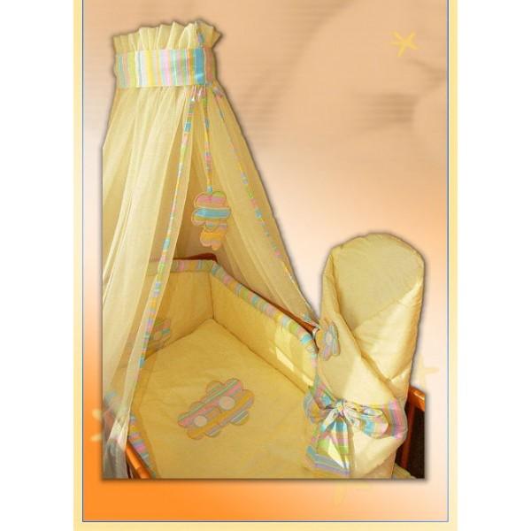 """Комплект в кроватку Ankras коллекция """"Цветы"""" цвет желтый"""