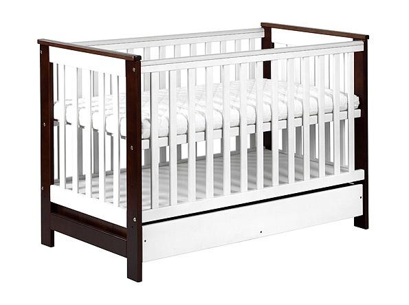 Детская кроватка KLUPS KOLONIAL с закрытым ящиком 120/60