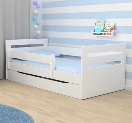 Кровать детская Эрик с бортиками, ящиком и матрасом.