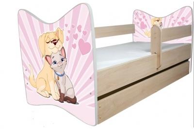Кровать детская от 3-х лет Джуниор (Влюбленный пес) с подкроватным ящиком и матрасом.