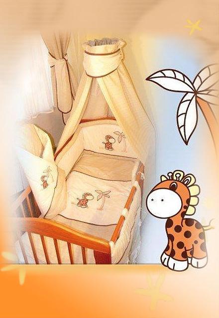 Комплект в кроватку Ankras коллекция Жираф цвет бежевый