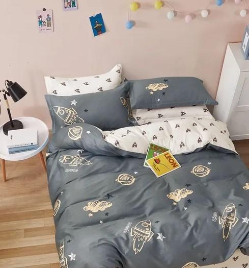 Детское постельное для подростков «Космос».( поплин премиум)