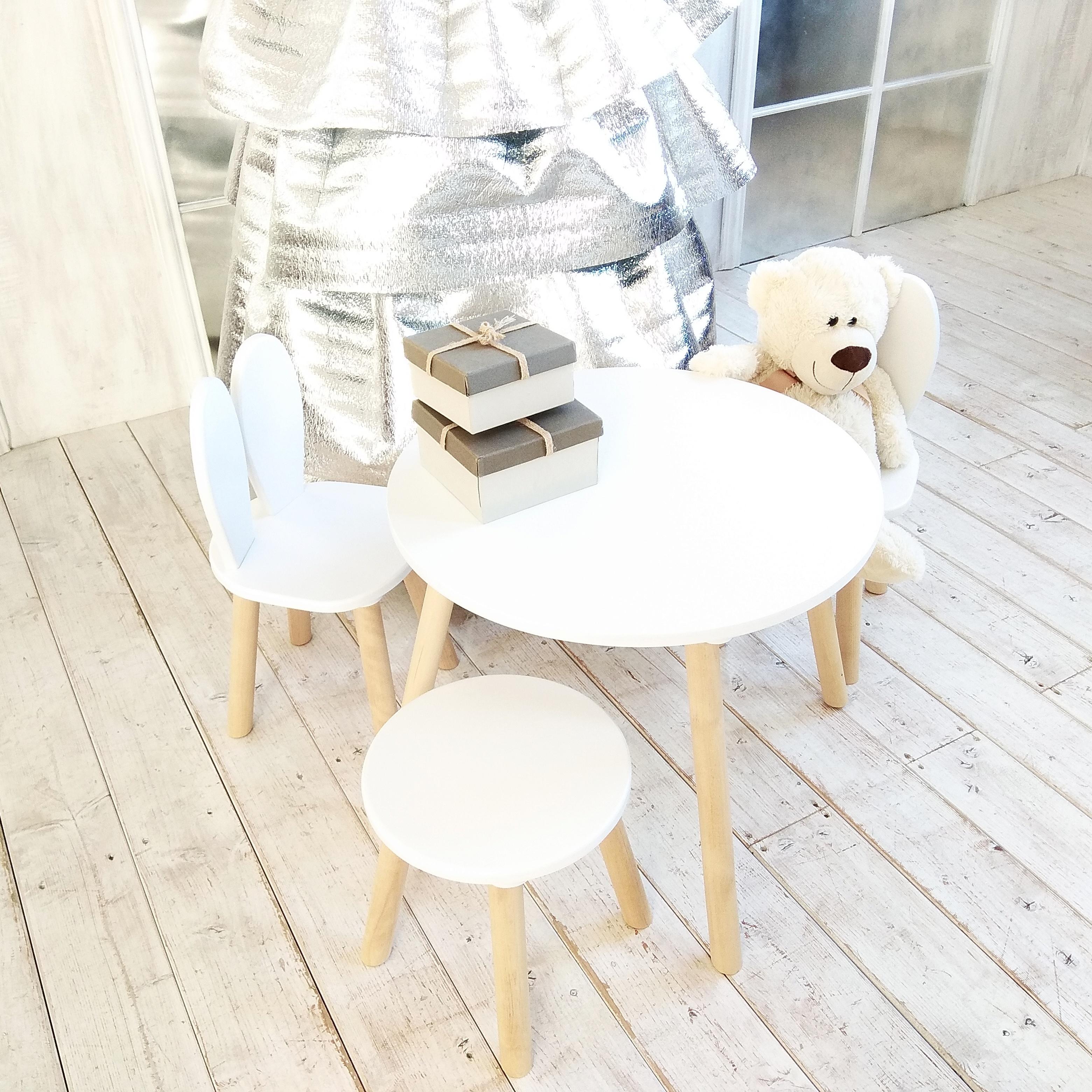 Столик и стульчик Зайка 1+1  (экко-мебель)