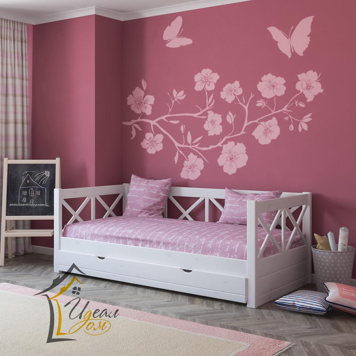 Кровать детская от 3 лет Мечта (из массив сосны).