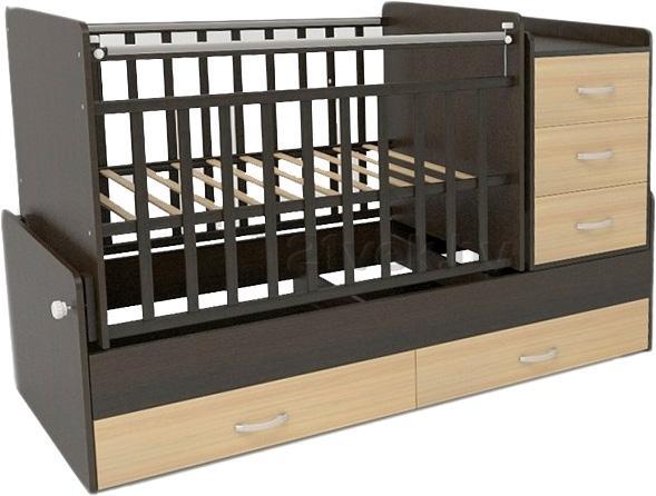 Детская кроватка-трансформер детская CKB арт. 534038-9 (венге/слоновая кость).