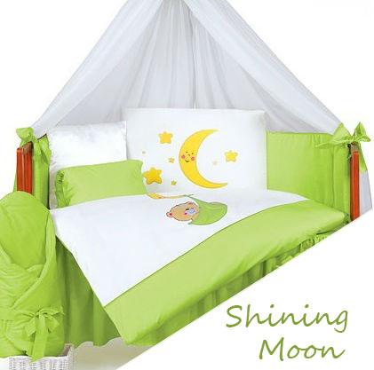 Комплект в кроватку Tuttolina Shining Moon 17 (18 голубой, 19 розовый) (7 предметов)