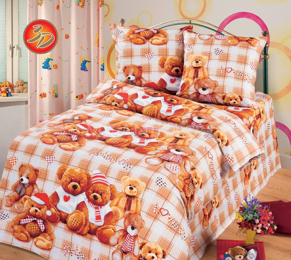 Детское постельное для подростков «Мишутка». (бязь)