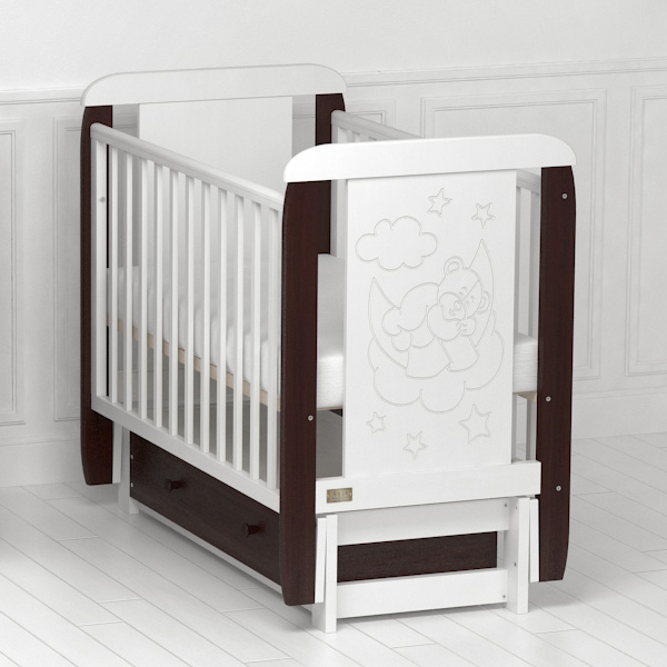 Кроватка Orsetto (с продольным маятником).