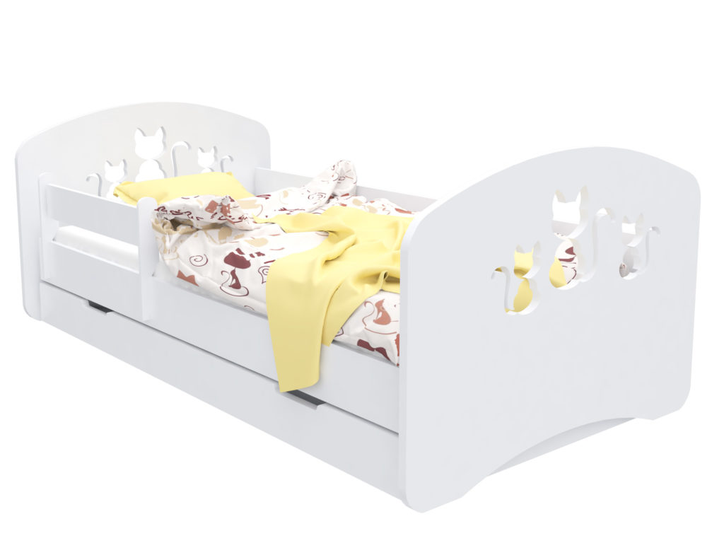 """Кровать детская """"Котята""""  с матрасом."""