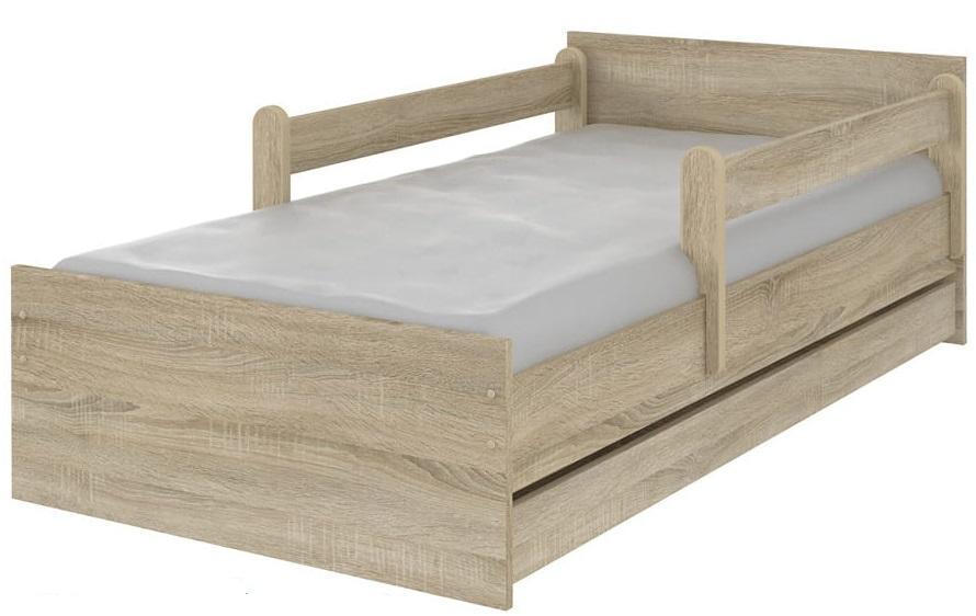 Кровать детская с бортиками Макс цвет дуб сонома.