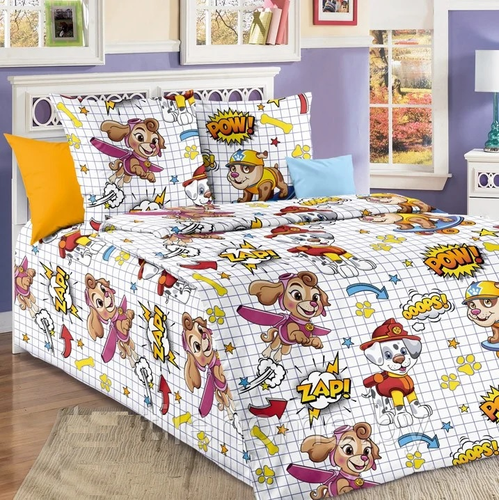 Детское постельное для подростков «Щенячий патруль». (бязь)