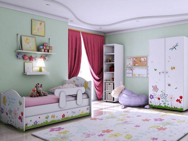 Детская комната Цветочные сны.