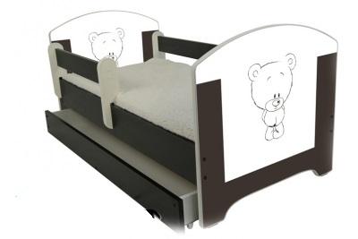 """Кровать детская от 3-х лет Oskar Х"""" Шоколадный мишутка"""" с матрасом."""