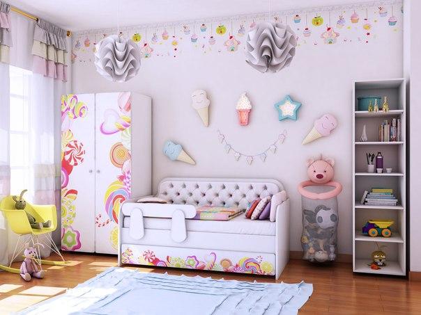 Детская комната Классик коллекция Конфетки.