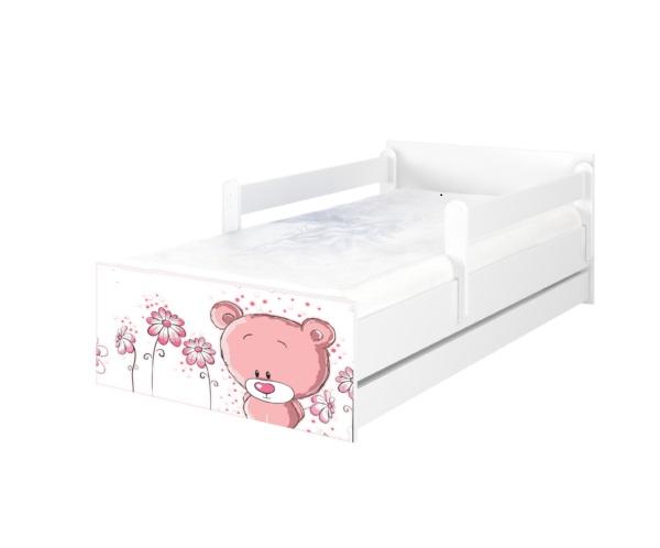 """Кровать подростковая Max XXL """"розовый мишутка"""" с матрасом."""