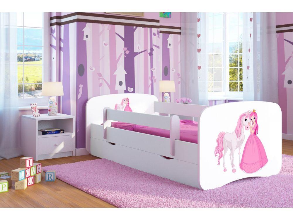 Кровать детская от 3-х лет Оскар с матрасом  коллекция принцессы.