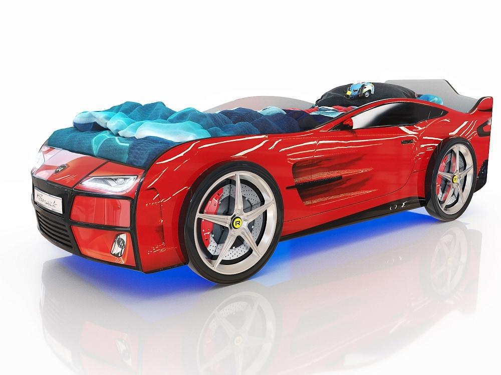 Детская кроватка-машинка Romack Kiddy Ferrari red (красный)