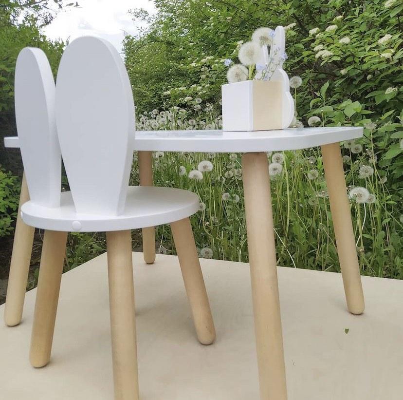 Детский столик и стульчик Зайка  (комплект 1+1)