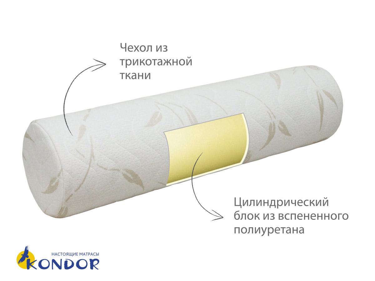 Подушка-валик 100х20см