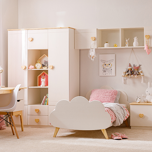 Кровать детская  на деревянных ножках Облачко от ТМ Baby-Boo с матрасом