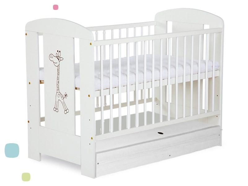 Детская кроватка Klups safary жираф с ящиком Белый.