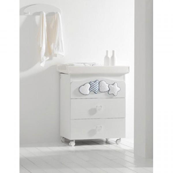 Комод MIBB Moon с ванночкой Blu
