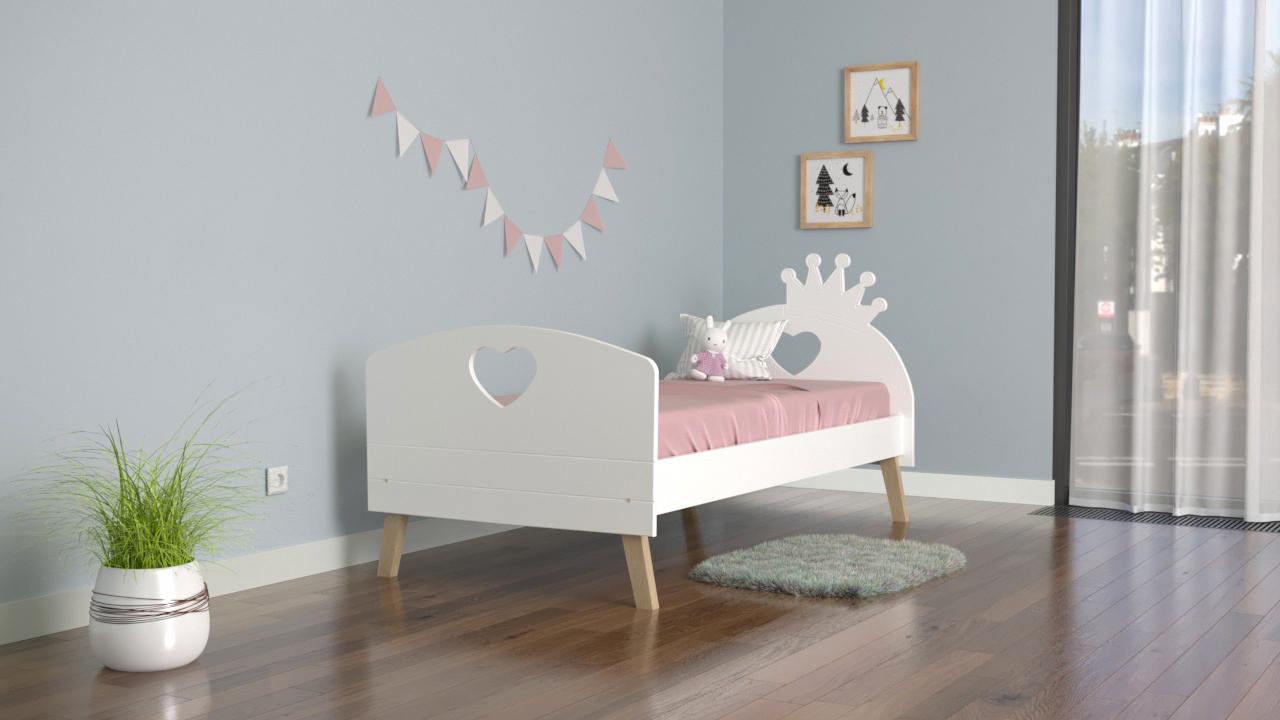 Кровать подростковая на деревянных ножках Бэль от ТМ Baby-Boo 1800х800.