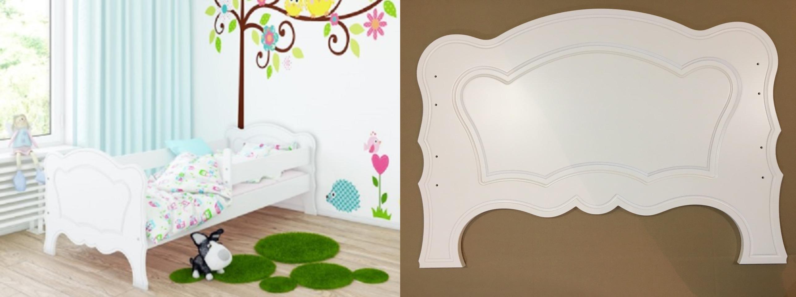 Кровать детская  Мико 1600х800 с бортиками