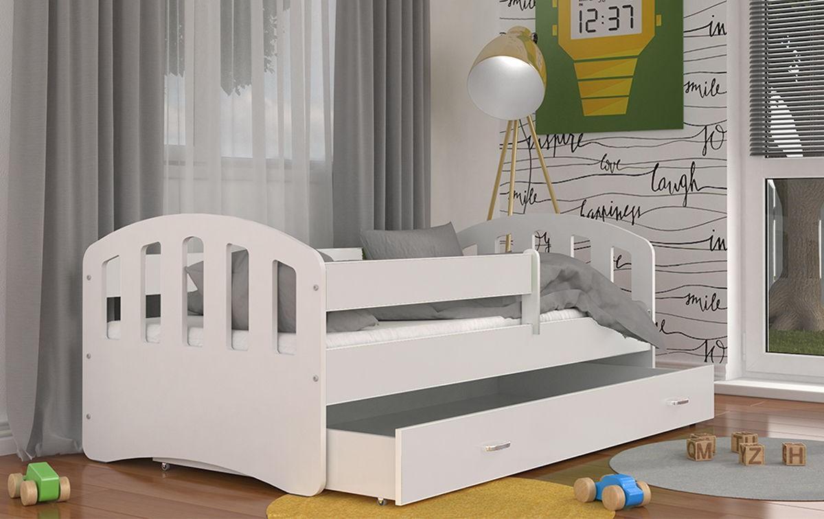 Кровать детская с бортиками Happy с матрасом.