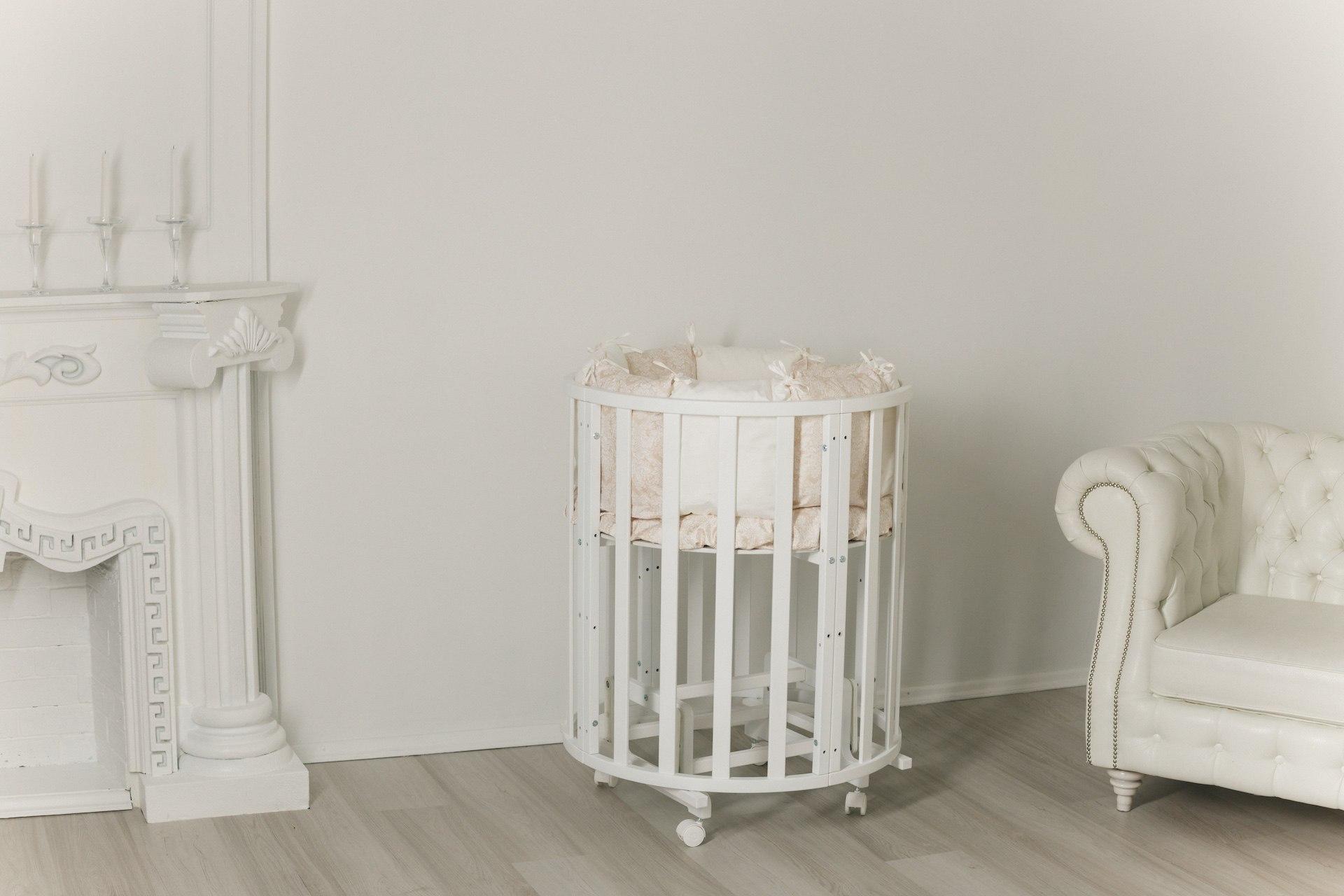 Кроватка детская круглая/овальная «Uoma Da Vinchi» Incanto 10в1.