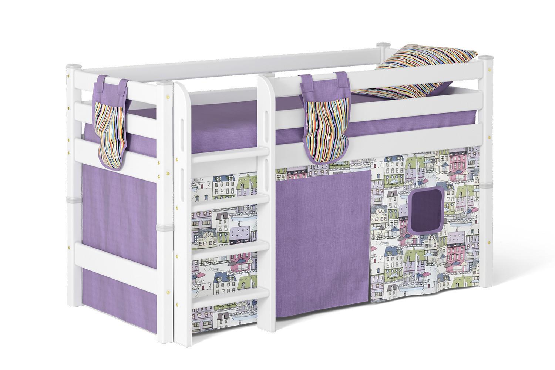 Кровать чердак Соня (вариант 11) низкая.